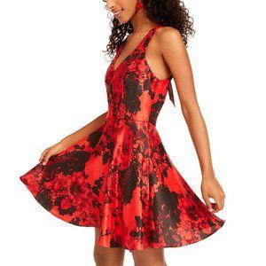 City Studios Womens Dress Juniors Size 5 Red Black